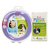 Kalencom Bundle: 2-in-1 Potette Plus Potty (Lilac) and 10 pc Liners: more info