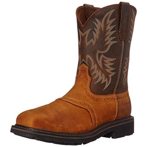 Ariat Men's Sierra Wide Square Steel Toe Work Boot, Aged Bark, 12 M US