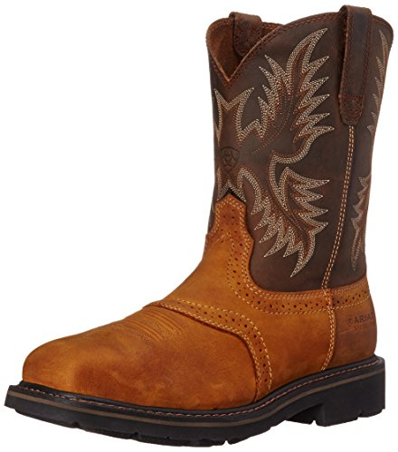 - Ariat Men's Sierra Wide Square Steel Toe Work Boot, Aged Bark, 11.5 M US