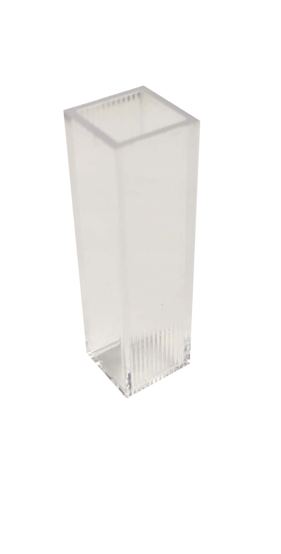 Disposable Plastic Cuvette, Fluorimeter, 10 mm Pathlength, 3.5 ml, 1000 per Case