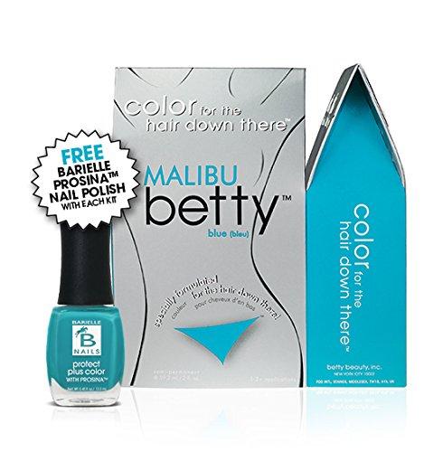 - Malibu Betty (Blue) Intimate Hair Color Kit with Free Prosina Nail Polish
