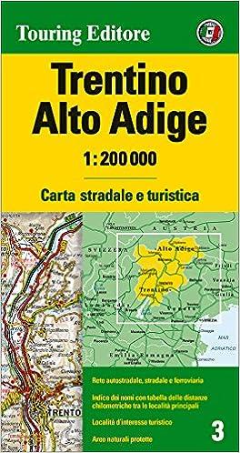 Cartina Stradale Del Trentino Alto Adige.Amazon It Trentino Alto Adige 1 200 000 Lingua Inglese Aa Vv Libri In Altre Lingue