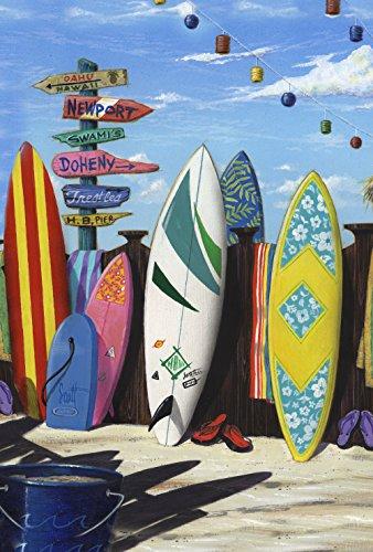 - Toland Home Garden Surf Central 12.5 x 18 Inch Decorative Summer Surfing Sport Beach Board Garden Flag