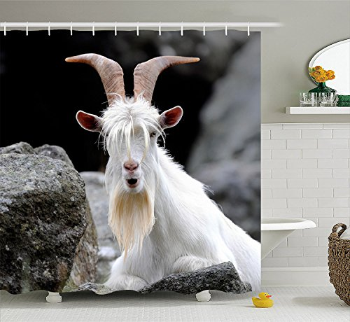 Inspirational Goat Fabric Polyester Waterproof Shower Curtain-Bathroom Accessories 72x72 - Inspirational Bench
