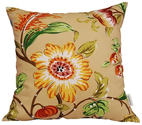 TangDepot174; 100% Cotton Floral/Flower Printcloth Decorative Throw Pillow Covers/Handmade Pillow Shams - Many Colors, Sizes Avaliable - (14