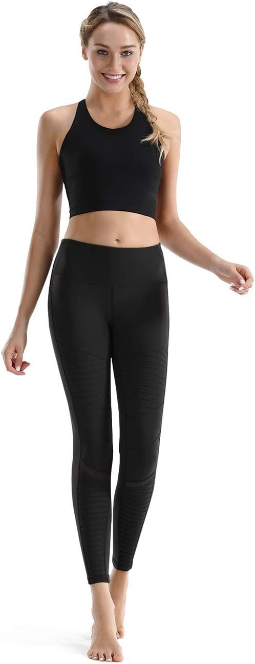Nonwe Womens Yoga Leggings Stretch High Waist Tummy Control Workout Sports Running Pants