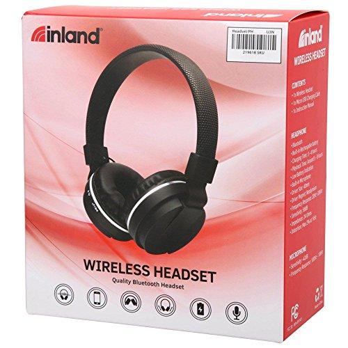 Inland Bluetooth Stereo Headphone 217703 - Microphone