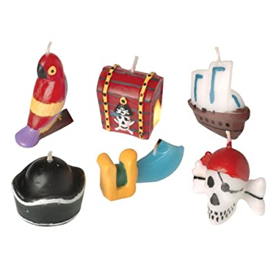 Pirate Birthday Cake Candles (6 Piece): Grocery & Gourmet Food