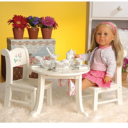 Doll Table And Chairs (CP Toys Wooden Table & Chair Playset for 18