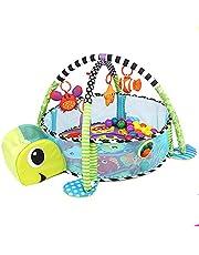 لعبة جيم للاطفال، بساط للبوصةطة 3 في 1 مع قضبان العاب وجدران قابلة للازالة، مسبح كرات للرضع، 4 دمى معلقة، 30 كرة لمسبح الكرات، نمط سلحفاة البحر اللطيفة