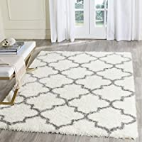 Safavieh Montreal Shag Collection SGM831B Ivory and Grey Area Rug (53 x 76)