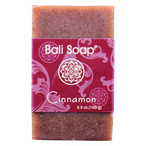 Bali Soap - Cinnamon Natural Soap Bar, Face or Body Soap Best for All Skin Types, For Women, Men & Teens, Pack of 3, 3.5 Oz each ()