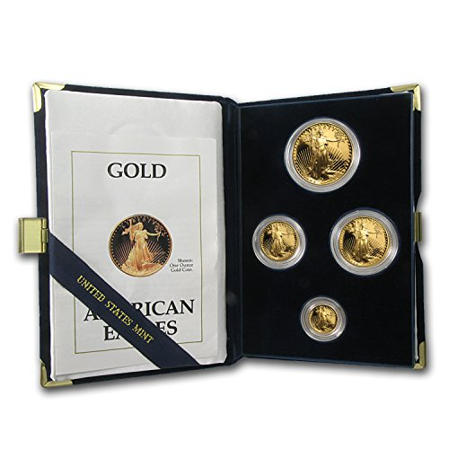1990 4-Coin Proof Gold American Eagle Set (w/Box & COA) Brilliant Uncirculated ()