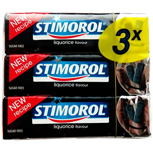 STIMOROL Chewing Gum: Licorice ( Pack of 3 )