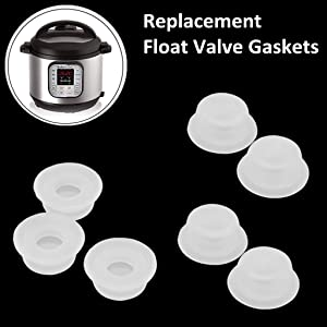 Original Replacement Float Valve Gaskets for Instant Pot Duo 3, 5, 6, 8 Quart, Duo Plus, Ultra, LUX 3, 8 Qt, Pressure Cooker Float Sealing Caps - 7 Packs