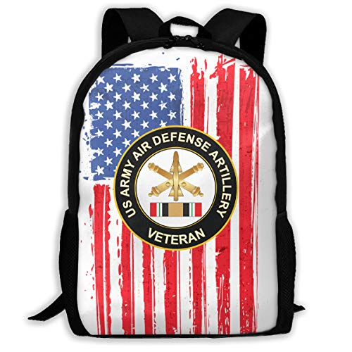 Mucup Army Air Defense Artillery Iraq Veteran School Bookbag Outdoor Travel Rucksack College Backpack