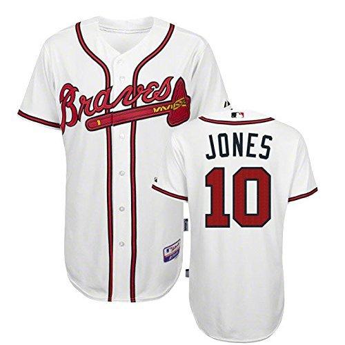 - Atlanta Chipper Jones #10 White Jersey