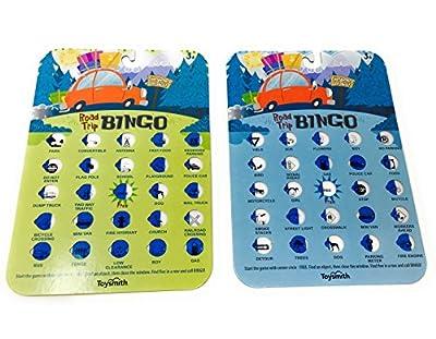 Road Trip Bingo Car Ride Vacation Game Bundle of 2 Cards (2 items)