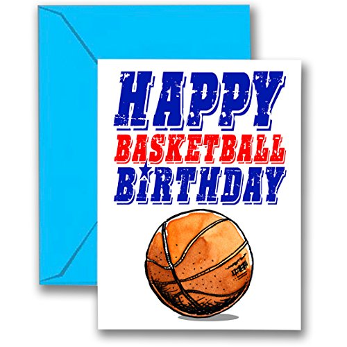 (Play Strong 3-Pack Basketball Star Birthday Cards 3-Pack (5x7) Sports Birthday Greeting Cards - Awesome for Players, Coaches and Fans Birthdays, Gifts and Parties! #AllProfitsToHelpKids)
