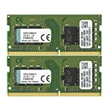 Kingston ValueRAM 16GB Kit (2x8GB) 2133MHz DDR4 Non-ECC CL15 SODIMM 1Rx8 Laptop Memory (KVR21S15S8K2/16)