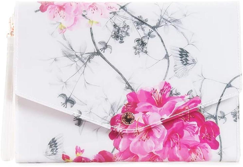 Ted Baker Women's Babylon Pastel White Envelope Cosmetic Bag Pouch
