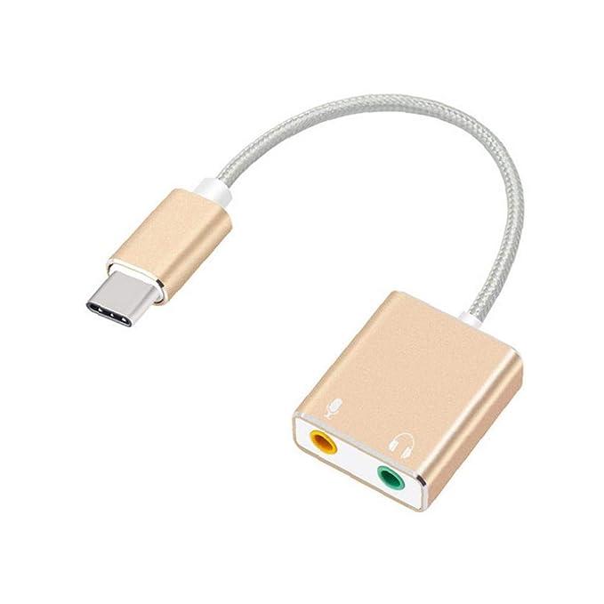 1 PC USB Tipo Tarjeta De Sonido Virtual De 7.1 Canales con 3,5 Mm ...