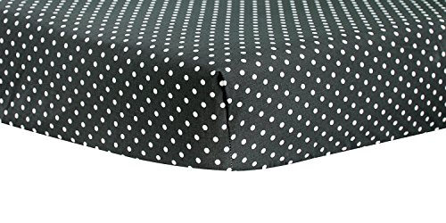 Trend Lab Bedtime Gray Dot Crib Sheet