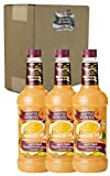 Master of Mixes White Peach Daiquiri/Margarita Drink Mix, Ready To Use, 1 Liter Bottle (33.8 Fl Oz) (Pack of 3)