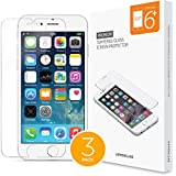 [3 Pack] iPhone 6 Plus iPhone 6S Plus Uppercase DuraGlass Premium Tempered Glass Screen Protector 3 Individual Pack (iPhone 6 Plus /6S Plus (3 Pack))