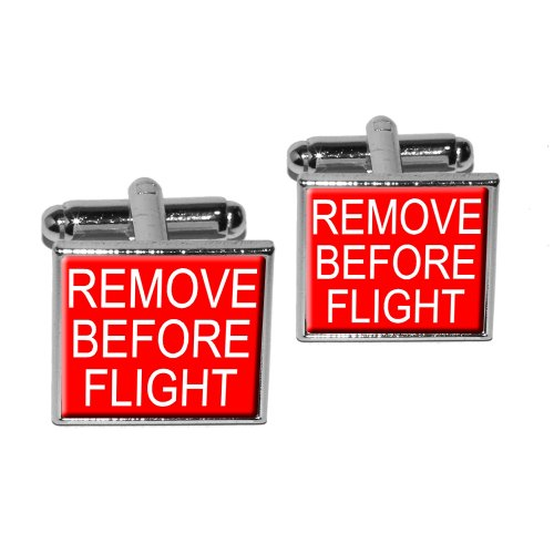Remove Before Flight Airplane Cufflink