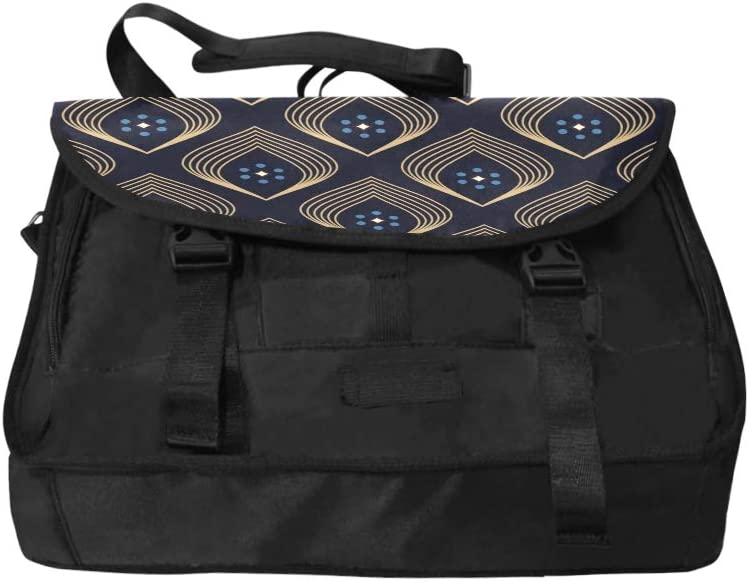 Womans Carrying Bag Ancient Flower Geometry Multi-Functional Shoulders Bag Fit for 15 Inch Computer Notebook MacBook