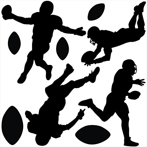 Wallmonkeys Football Gameday Wall Decal Sticker Set by Individual Peel and Stick Graphics on a (48 in H x 48 in W) Sticker Sheet WM498545