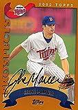 Autograph Warehouse 246104 Jake Mauer Autographed Baseball Card - Minnesota Twins 2002 Topps - No. T252