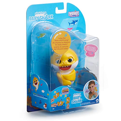 51gFPbbn4ZL - WowWee Pinkfong Baby Shark Fingerlings - Baby Shark - Preschool Interactive Toy