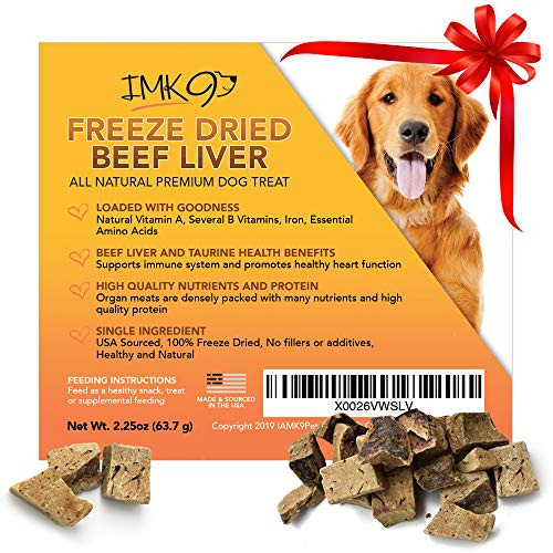 Freeze Dried Liver Treats for Dogs – Natural Taurine Source, 100% Pure, Premium Single Ingredient, Grain Free – Healthy…