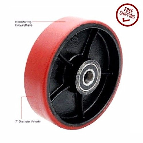 Mighty-Lift-Brand-Pallet-Mover-Steer-Wheel-7-Diameter-x-2-Wide-Polyurethane-on