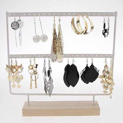 SM SunniMix 2 Pieces Organize Rack 44 Holes Stud Dangle Earrings Display Wood Base Showcase by SM SunniMix (Image #5)