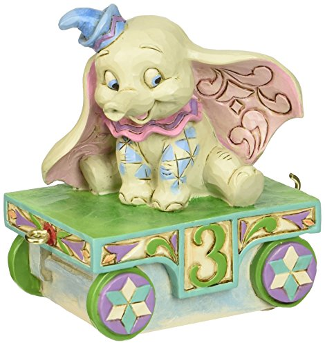 - Disney Traditions by Jim Shore Dumbo Baby Birthday Train Age 3 Stone Resin Figurine, 3.5
