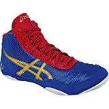 ASICS JB Elite V2.0 GS Wrestling Shoe (Little Kid/Big Kid), Jet Blue/Olympic Gold/Red, 2 M US Little Kid