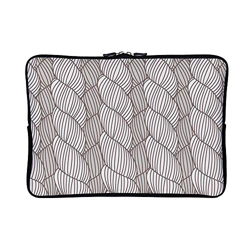 DKISEE Abstract Hand Drawn Plait Pattern Neoprene Laptop Sleeve Case Waterproof Sleeve Case Cover Bag 15 inch for MacBook/Notebook/Ultrabook/Chromebooks ()