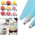 Cake Decorating Supplies with Cake Turntable 24 Stainless piping nozzles 1 Icing Spatula 1 Pastry Bag 1 Cake Brush 1 Cake Cutter 1 Cake Pen 3 Cake Scrapers cake stand 11 The turntable turns smoothly in clockwise or anticlockwise direction, can hold a cake up to 11-inches. Non-slip edge to keep the turntable from moving on your work surface All the accessories are suit for the standard of US,you can use the piping nozzles and turntable to make beautiful cake and cake flowers Baking set  is easy for kids and adults to use.   Cakebe cake piping set  is made from FDA APPROVED materials, quality and durable stainless steel.  Use these cake tools   for   fun   and   easy cake decorating. 100% satisfaction guaranteed!