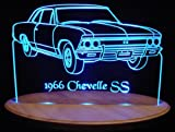 1966 Chevelle SS Acrylic Lighted Edge Lit 13'' LED Sign / Light Up Plaque 66 VVD1 Made in USA