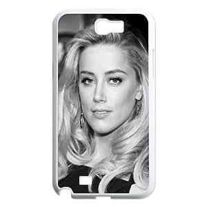 Samsung Galaxy N2 7100 Cell Phone Case White Amber Heard Black Dress Hollywood Star F8V0KI