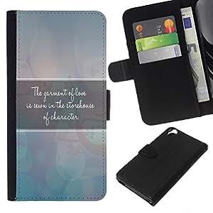 EJOY---La carpeta del tirón la caja de cuero de alta calidad de la PU Caso protector / HTC Desire 820 / --BIBLIA manto de Amor