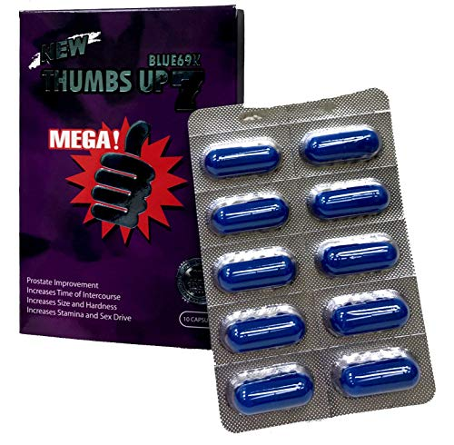 Thumbs Up 7 Blue 69K 10 Capsules Best Male Enhancing Natural Performance Capsules New Premierzen Most Effective Natural Amplifier for Performance, Energy, and Endurance (Blue(10CAP))