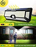 Solar Motion Sensor Light Outdoor - New Upgrade 268 LEDs Solar Lights Outdoor,Motion Solar Lights Outdoor Waterproof,Led Solar Lights Outdoor Motion Sensor,Super Bright Solar Sensor Lights