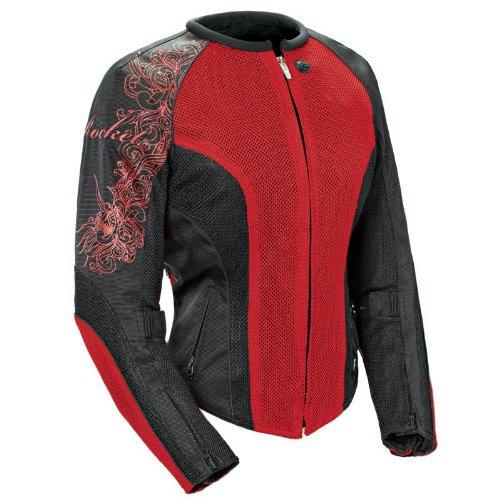 Joe Rocket Cleo 2.2 Women's Mesh Motorcycle Riding Jacket (Wine/Black/Black, Large)