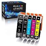 E-Z Ink (TM) Compatible Ink Cartridge Replacement for Canon PGI-280XXL CLI-281XXL PGI 280 XXL CLI 281 XXL for PIXMA TR7520 TR8520 TS6120 TS6220 TS8120 TS8220 TS9120 TS9520 TS9521C Printer (5 Pack)