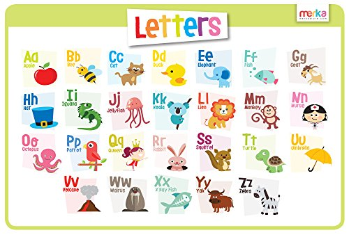 merka Educational Kids Placemat - Non Slip Washable (Alphabet ABC)