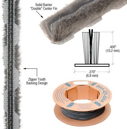 """Zipper Pile Weatherstrip .270/"""" Backing .400/"""" Pile Height"""